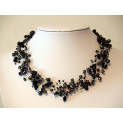 Necklace grey black