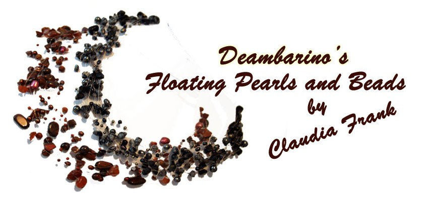 Deambarino's floating necklaces