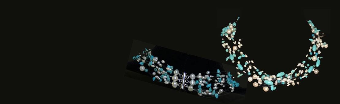Schwebende Halsketten